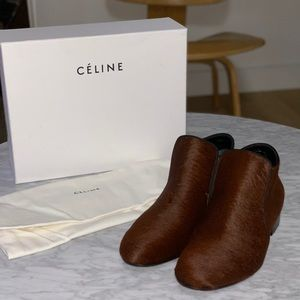 NEW Celine Ponyhair Bootie Slipper Ankle Boots